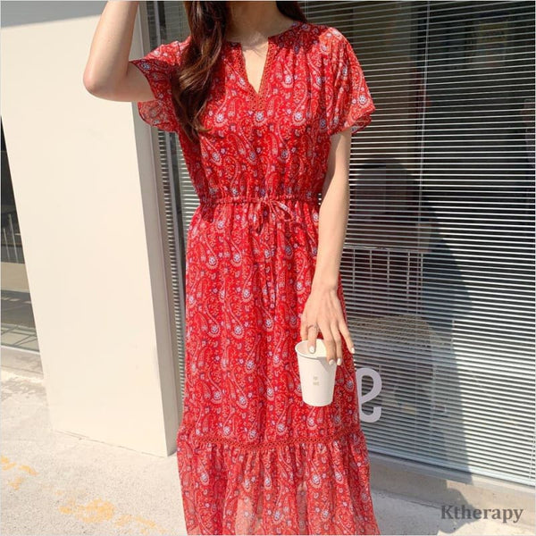 [LADY] LYZ DRESS - Red - LADY
