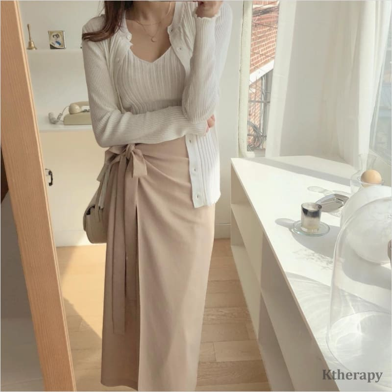 LEANNE WRAP SKIRT - LADY