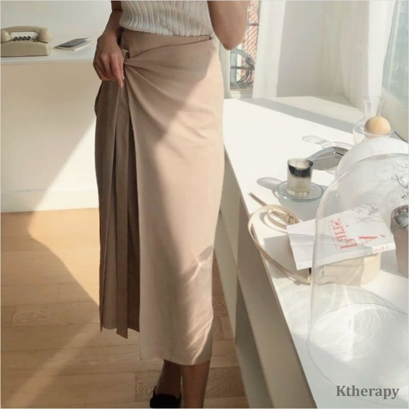 LEANNE WRAP SKIRT - K therapy