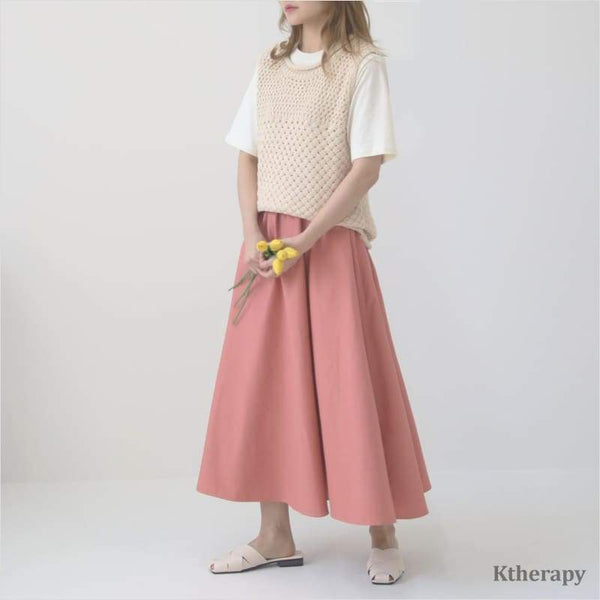 MACAROON HOOL SKIRT - K therapy