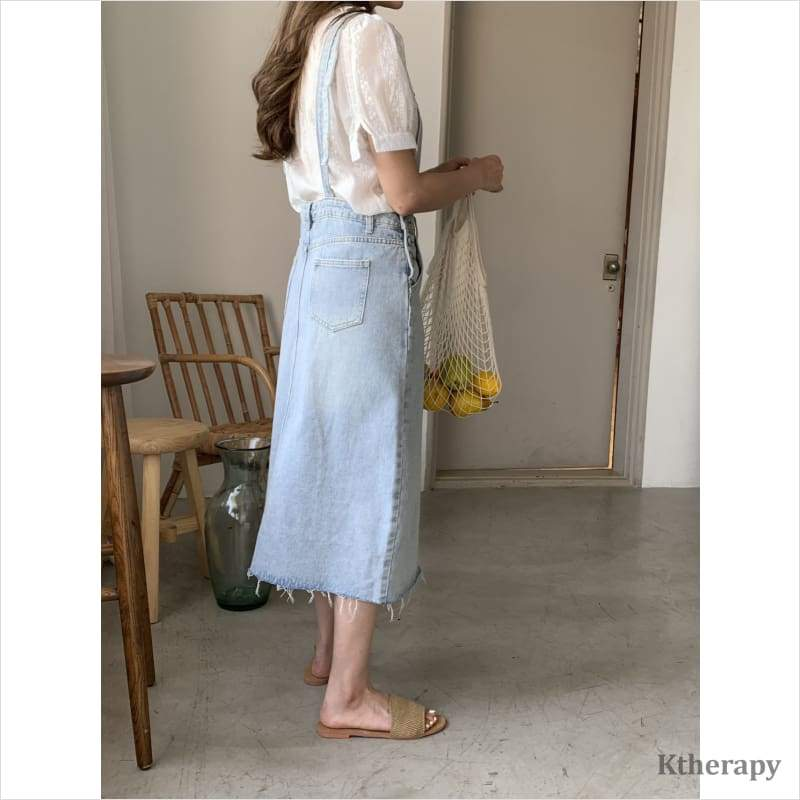 [PRE-ORDER 10%] HANNAH JUMPER SKIRT - LightBlue - LADY
