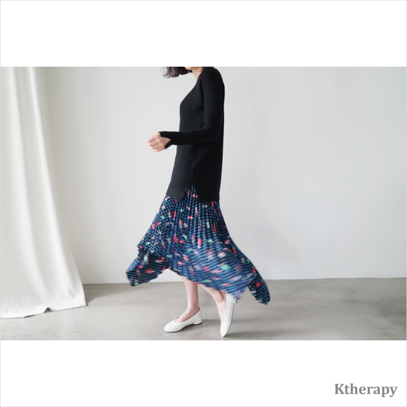 PHOEBE PLEATED SKIRT - K therapy