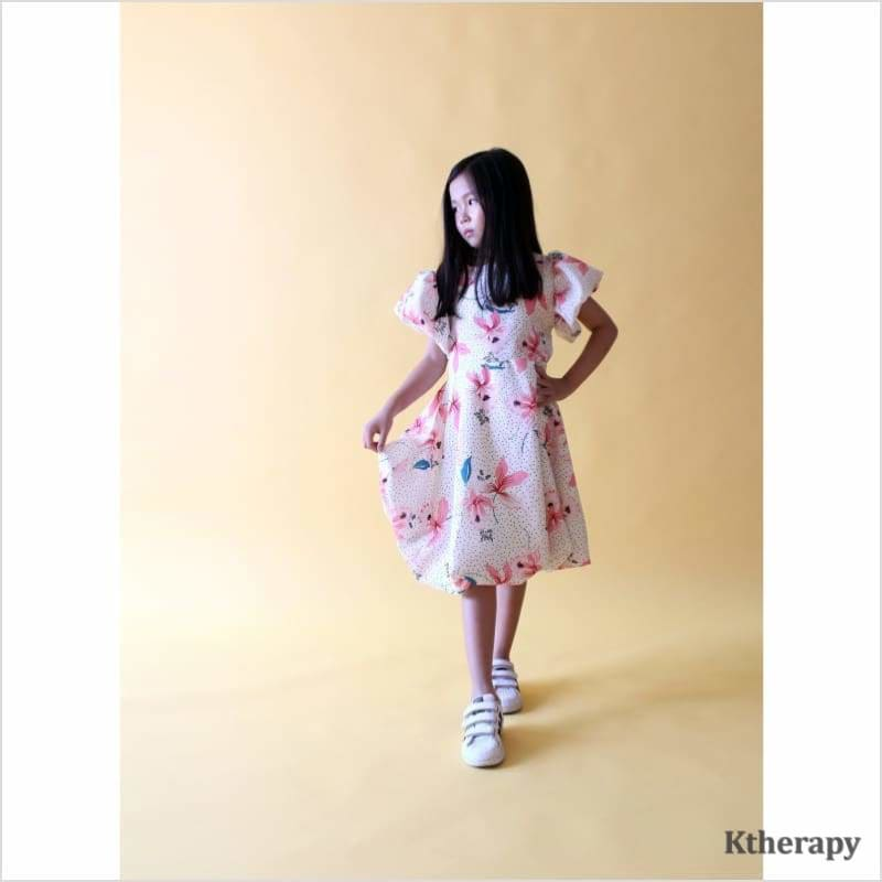 SPRING BALLOON DRESS - IVORY - K therapy