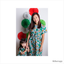 SUNFLOWER TWINNING DRESS - GREEN - TWINNING