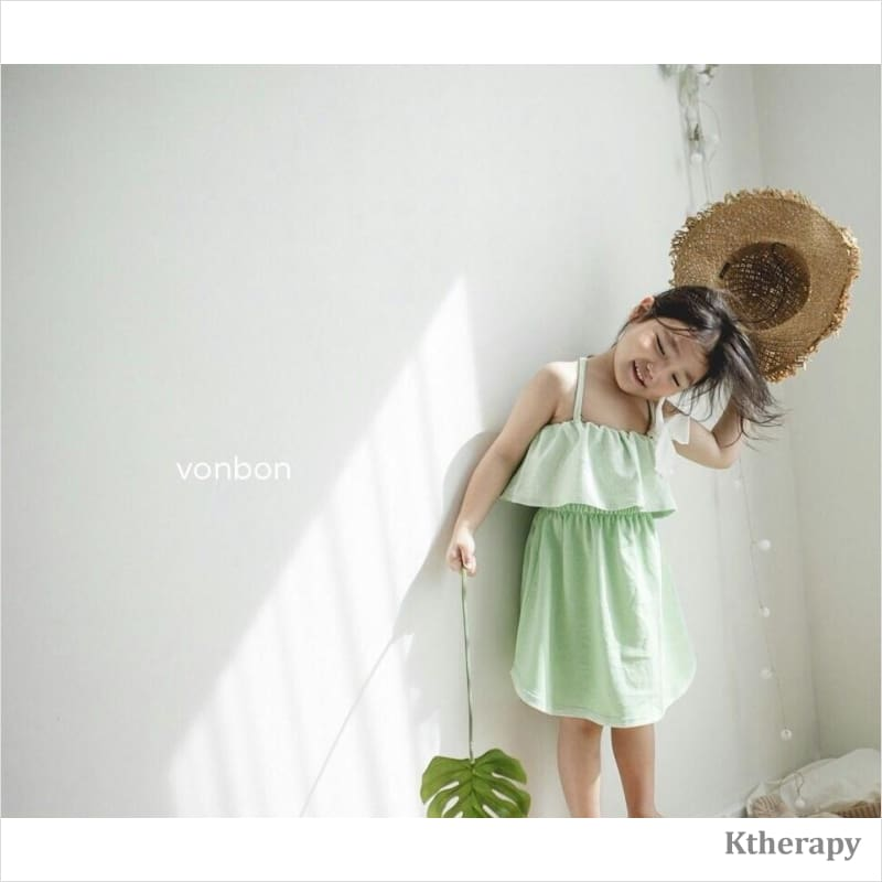 SWEETIES DRESS - GREEN - BOY & GIRL