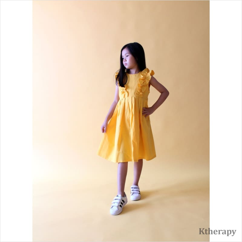 TANGERINE LINEN DRESS - K therapy