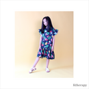 TROPICAL TWINNING DRESS - NAVY - K therapy