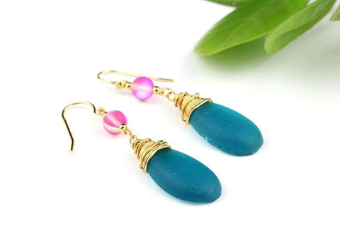 Make Your Own Wire Wrapped Drop Earrings