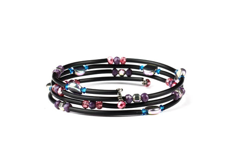 Learn to Make a Beaded Wraparound Bracelet with Memory Wire