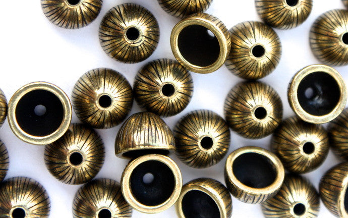 Dome Shaped Brass 'Acorn' Bead Cap