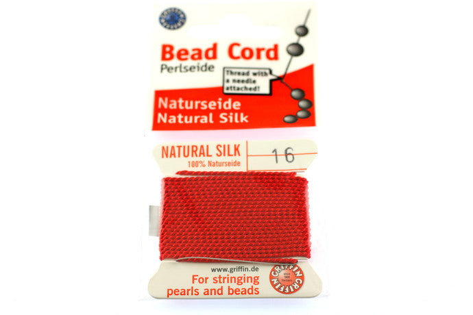Red Natural Silk Thread - Size 16