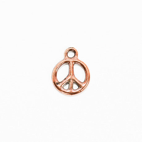 Copper Peace Sign