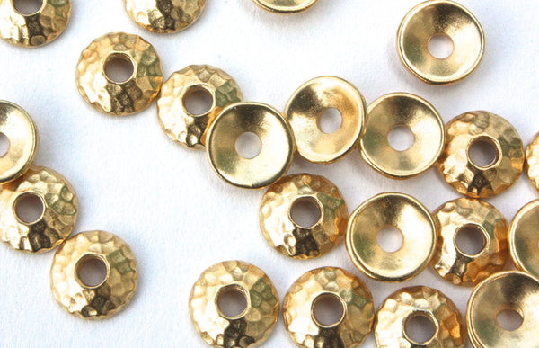 9mm Large Hole Gold Bead Cap
