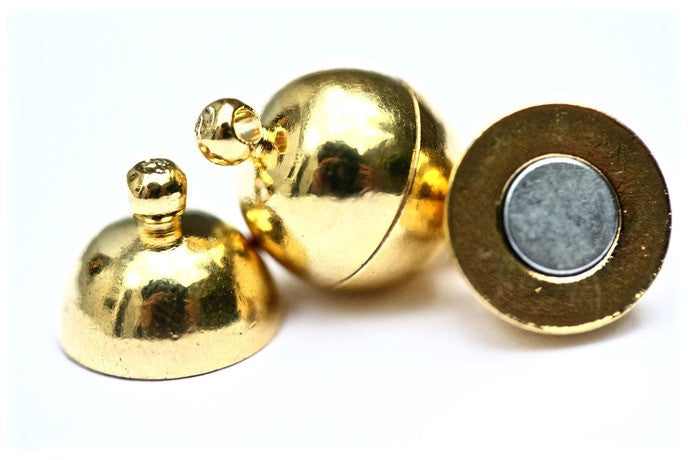 4 x Gold Magnetic Ball Clasps