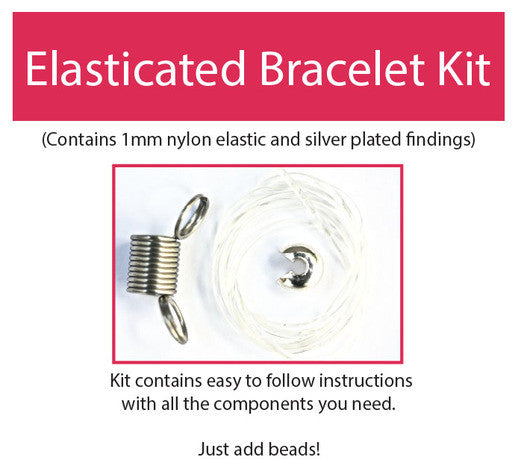 Make your own elasticated beaded jewellery kit contains all components & instructions