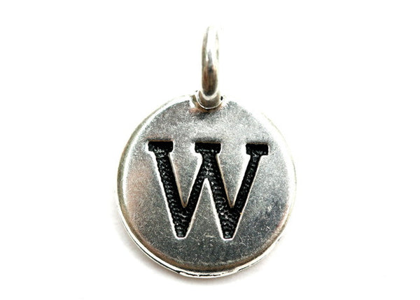 Letter 'W' Charm
