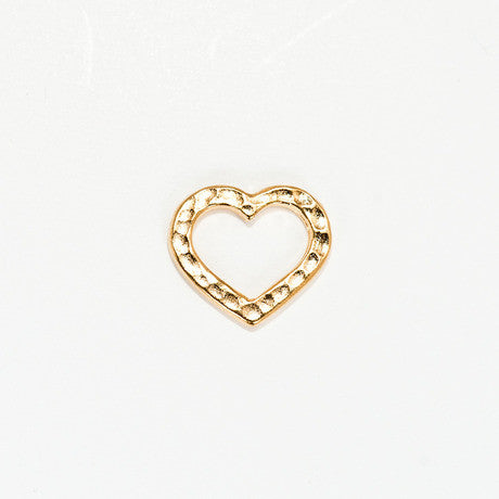 Gold Hammered Heart