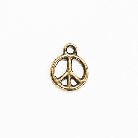 Brass Peace Sign