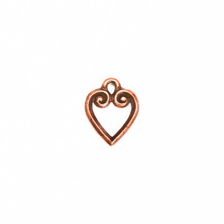 Ornate Copper Heart