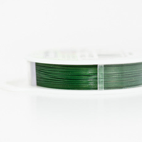 Beadalon 7 Strand Beading Wire Green 0.46mm / .018in - 9.2M / 30ft