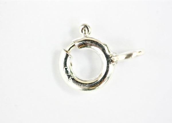 1 x 8mm Sterling Silver Bolt Ring Clasp