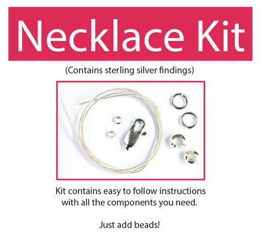 Make your own beaded necklace kit (sterling silver) contains all components & instructions