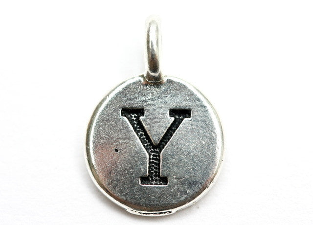 Letter 'Y' Charm