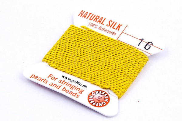 Yellow Natural Silk Thread - Size 16