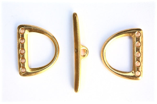 1 x 5 strand Gold Toggle Clasp