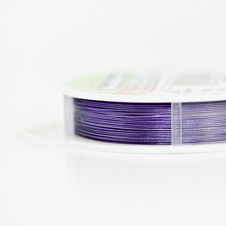 Beadalon 7 strand beading wire - Purple 0.46mm / .018in - 9.2M / 30ft