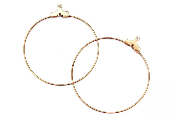 1 pair Copper Hoops
