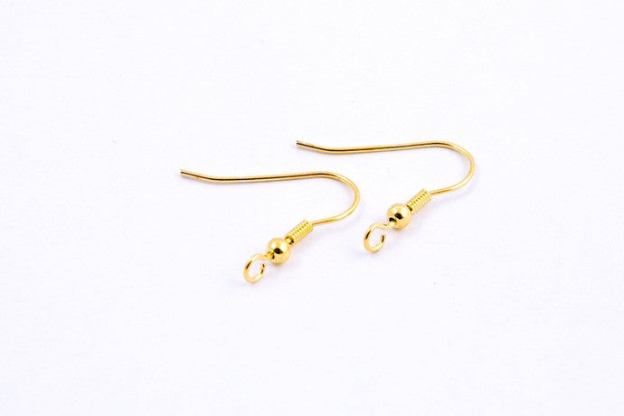 10 pairs Gold Fish Hook Ear Wires