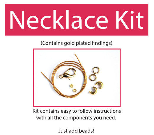 Make your own beaded necklace kit (gold plated) contains all components & instructions