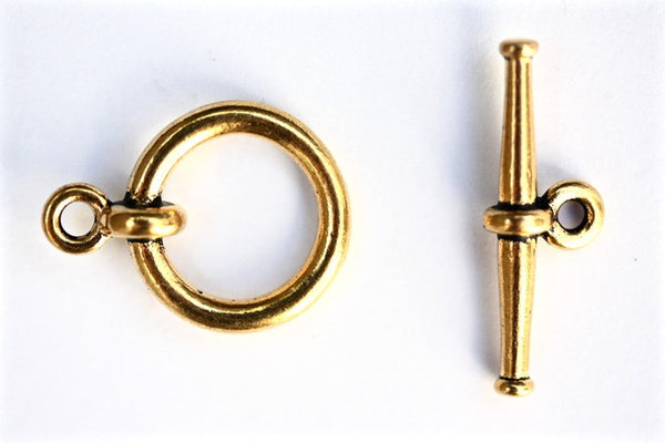 1 x Gold Tierracast Toggle Clasp