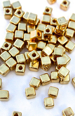 10 x Real Gold Plated Cube