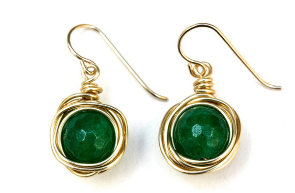 Green Quartz Nest Earrings
