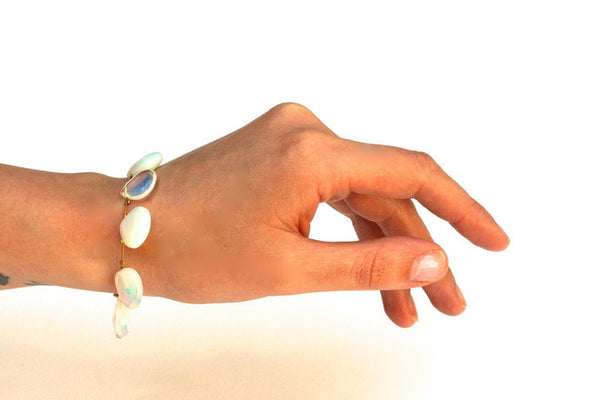 Floating Opalite Bracelet - Gold