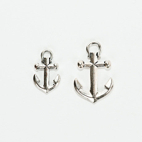 Fine Silver Plated Anchor Pendant