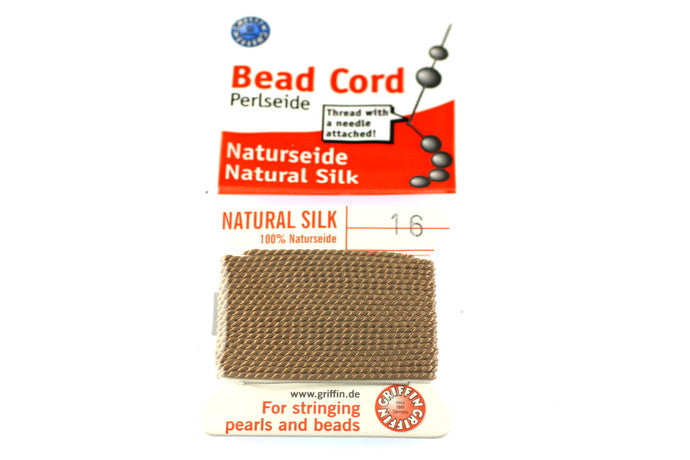 Beige Natural Silk Thread - Size 16