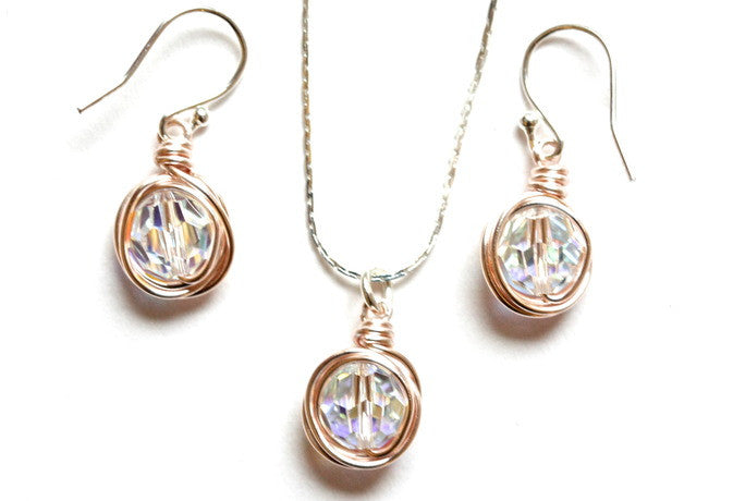 Clear Swarovski and Gold Nest Collection