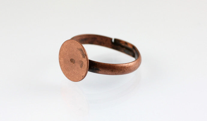 10 x Copper Ring Base