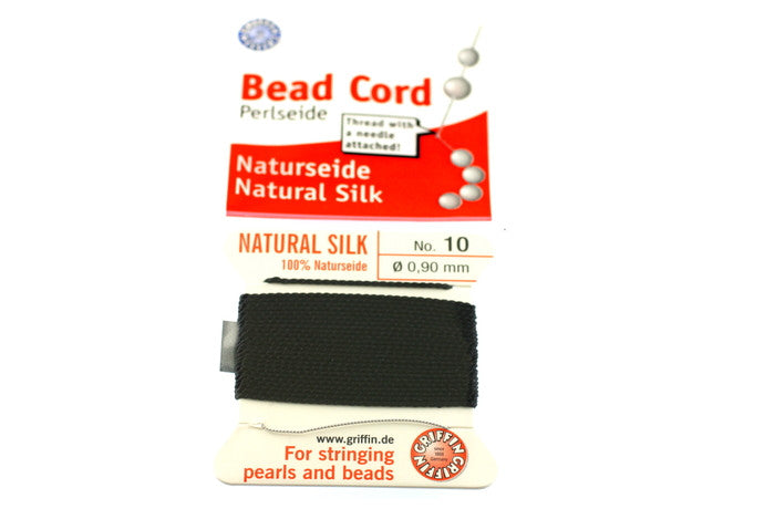 Black Natural Silk Thread - Size 10