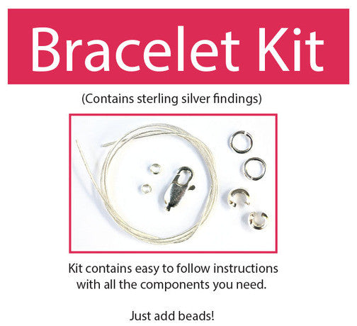Make your own beaded bracelet kit (sterling silver) contains all components & instructions