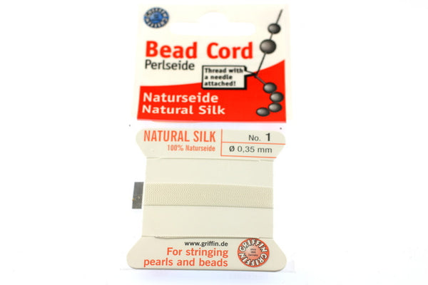 White Natural Silk Thread - Size No.1