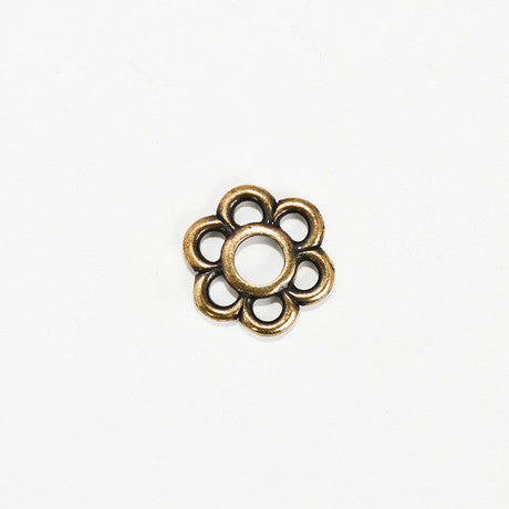 Brass Flower Charm