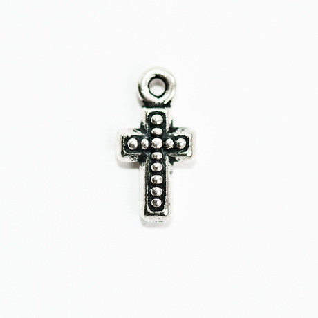 Silver Beaded Cross