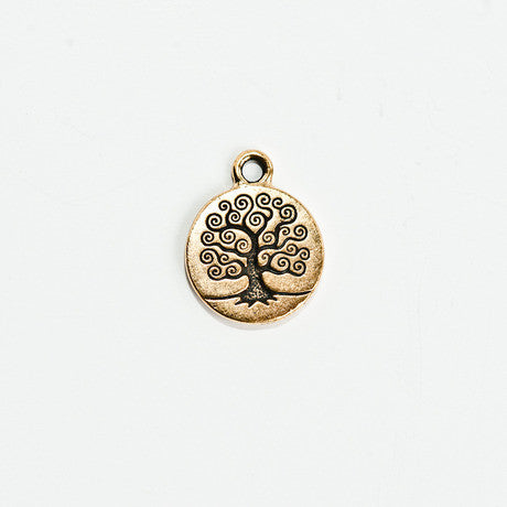 Gold Tree of Life Charm