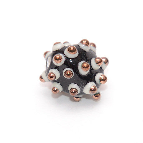 Black Spotted Glass Bead