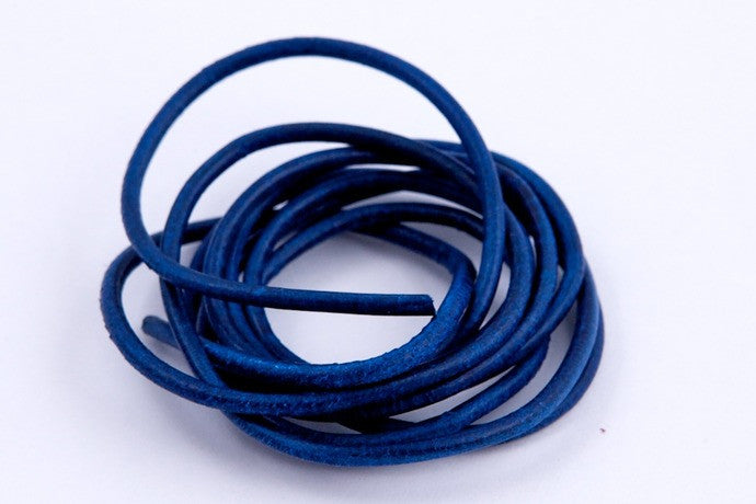 Blue Leather Cord