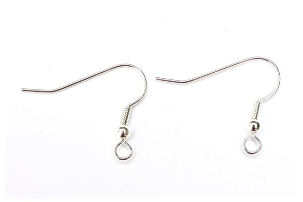 10 pairs Silver Fish Hooks Earwires